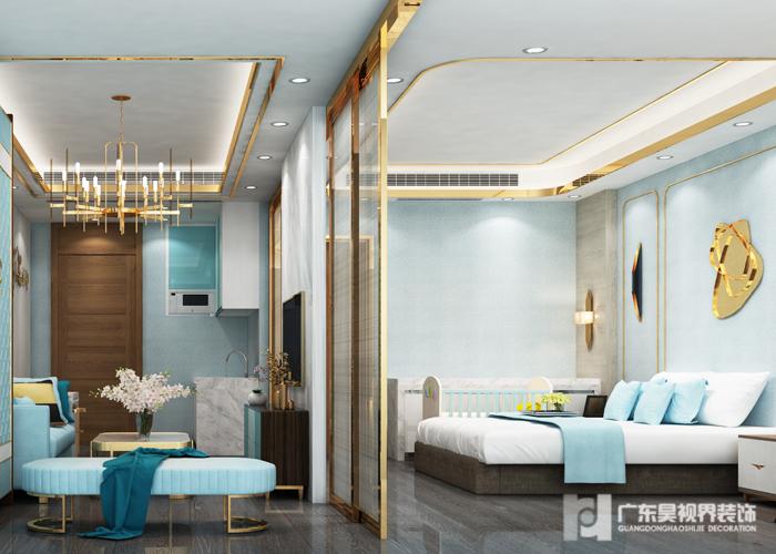 一房一厅月子房间(轻奢华蓝)